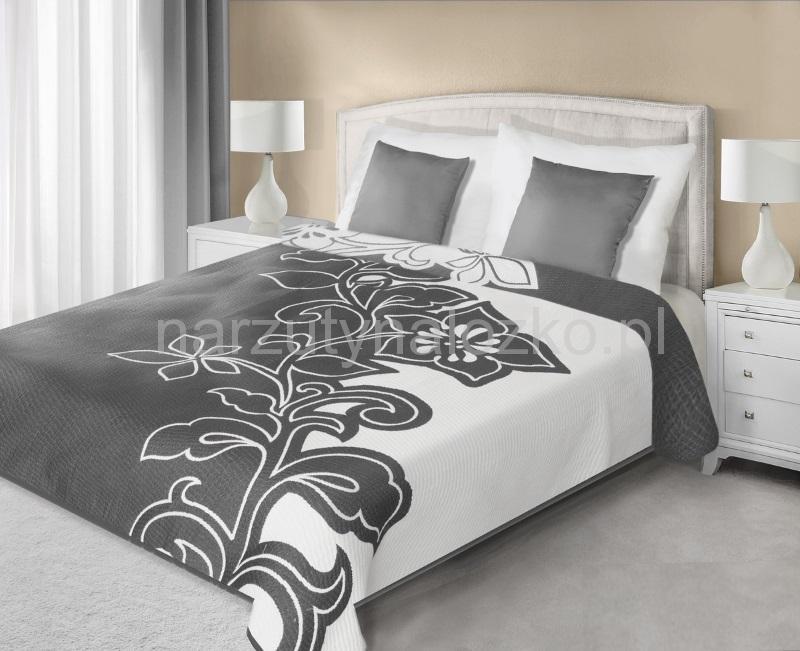 Dwustronne Modne Szare Narzuty Na łóżko Do Sypialni Z Wzorem Kwiatowym