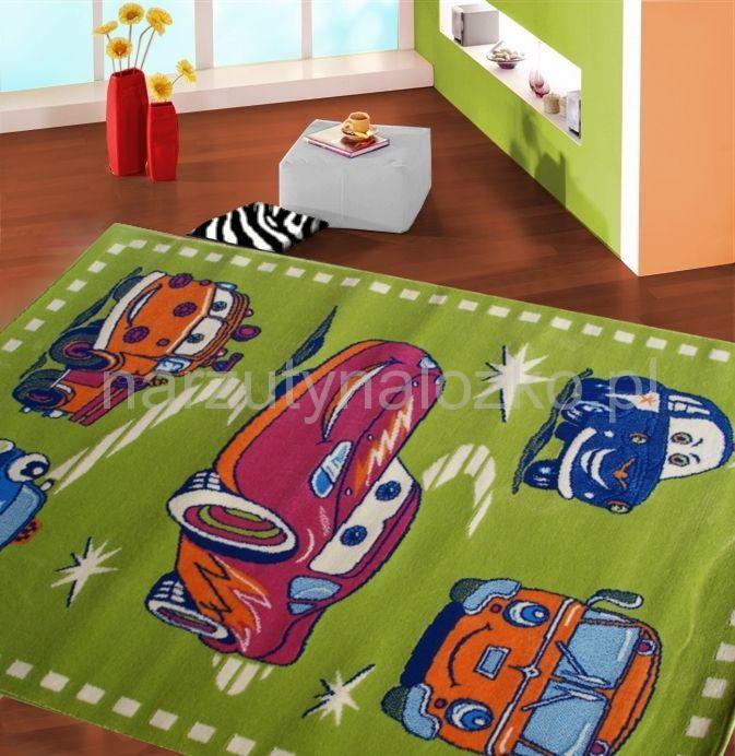 Wybitny Autka dywany dla dzieci w kolorze zielonym | Narzutynalozko.pl SF53