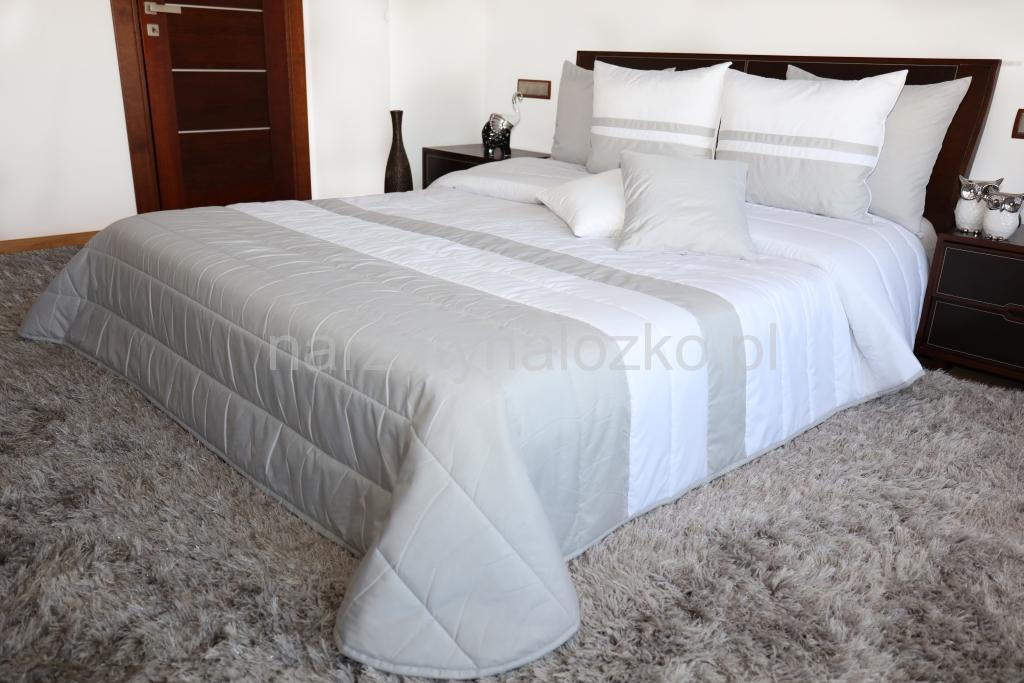 Biało Szara Narzuta Na łóżko Do Sypialni