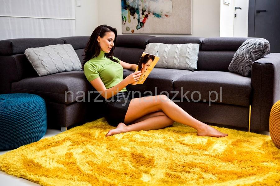 120x170 Dekoracyjne żółte Pluszowe Dywany Na Podłogę Do Salonu