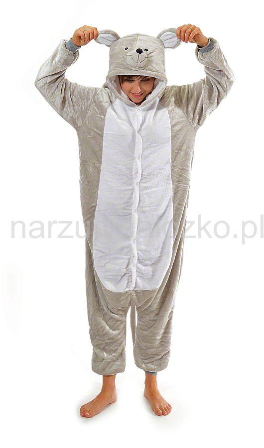 e63fa0d21fff68 Szara myszka kigurumi kigu piżama kombinezon damski-męski jednoczęściowy