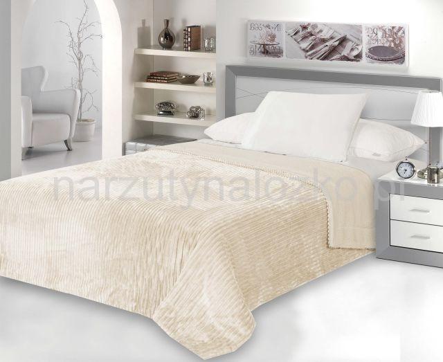 Klasyczna Dwustronna Beżowa Narzuta Na łóżko Do Sypialni 160x200