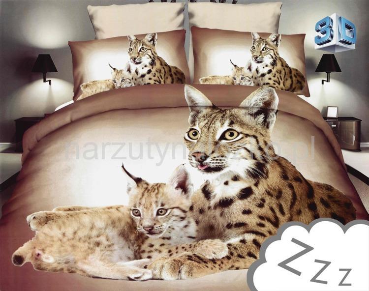Młodzieńczy Nowości   Nowoczesna 3D pościel 160x200 ze zwierzętami FD71
