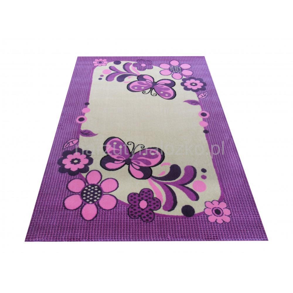 Ogromny Dywany dla dzieci do pokoju w kolorze kremowo fioletowym LN97