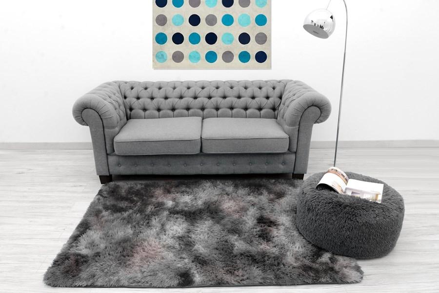 acbb81bbf83c Ombre pluszowy dywan w kolorze ciemno szarym na podłogę do pokoju empty