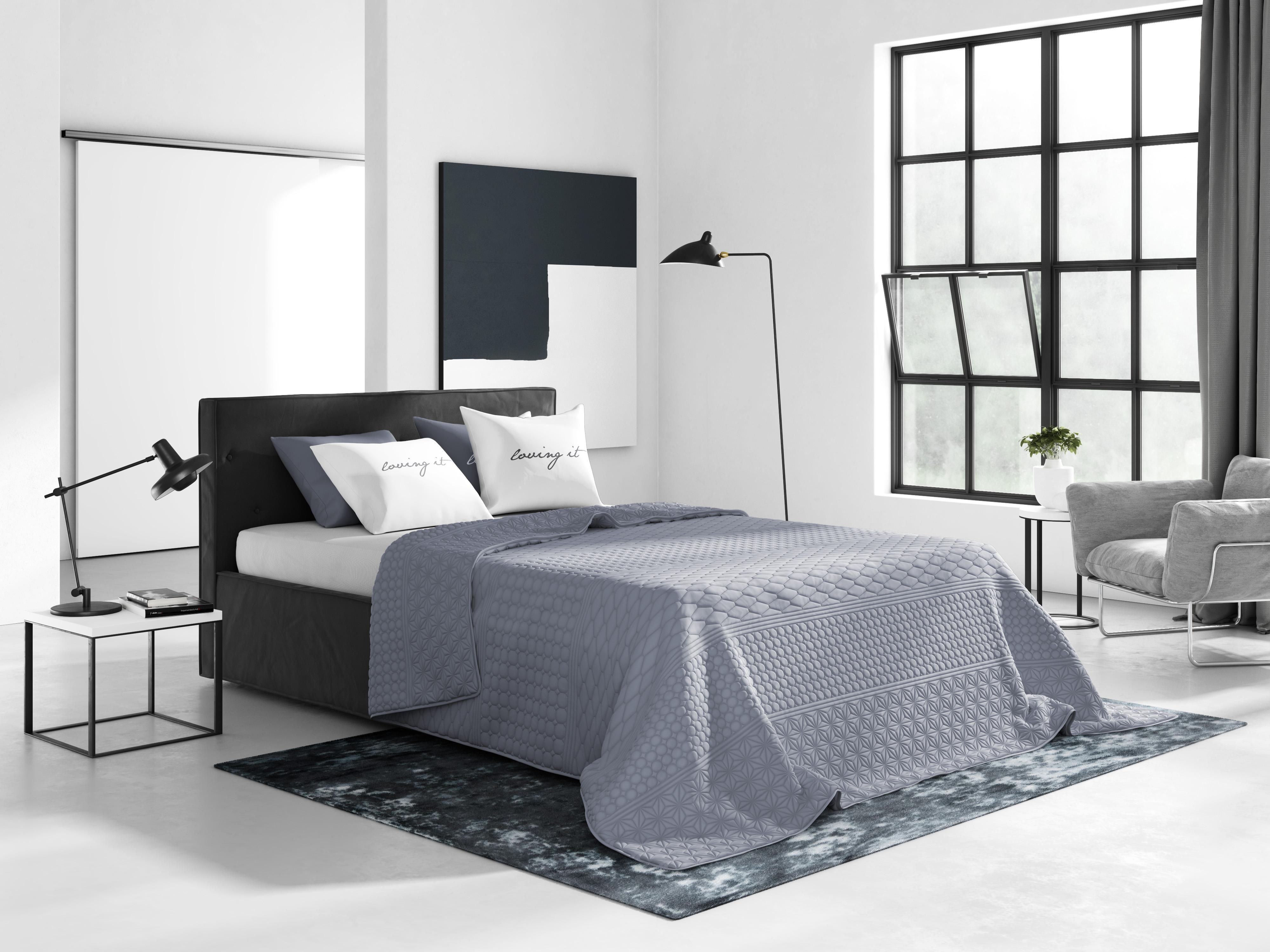 Szare Tłoczone Nowoczesne Narzuty Francuskie Na łóżko Do Sypialni 200x220