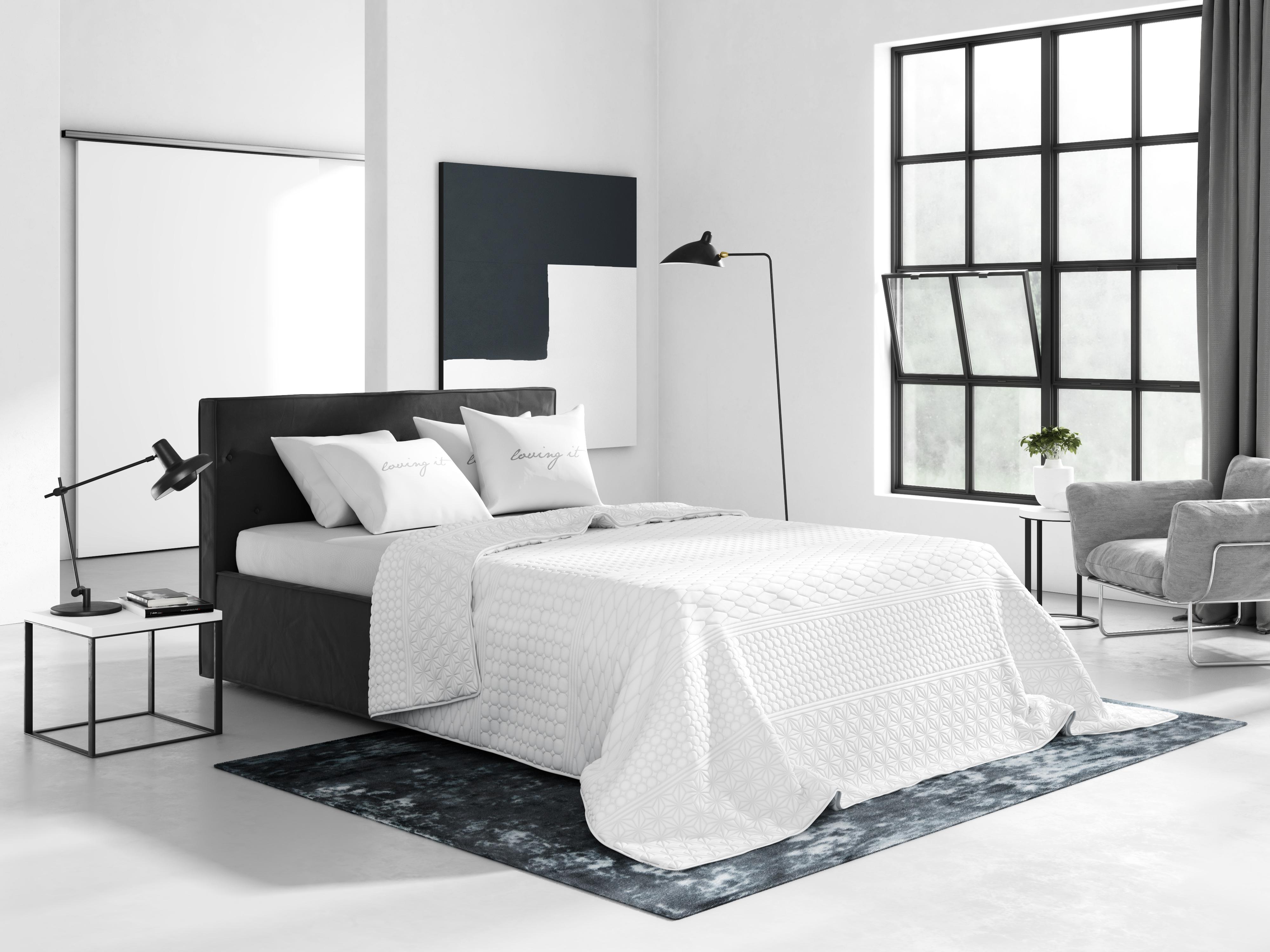 Wysokiej Jakości Francuska Narzuta 200x220 Tłoczona Do Sypialni W Kolorze Białym